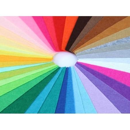 Lot de 40 plaques de feutrine multicolores - 15 cm x 15 cm  - 2