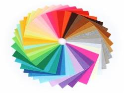Lot de 40 plaques de feutrine multicolores - 15 cm x 15 cm  - 4