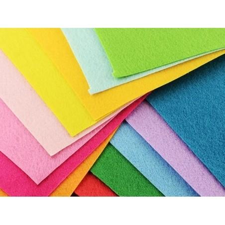 Lot de 40 plaques de feutrine multicolores - 15 cm x 15 cm  - 5