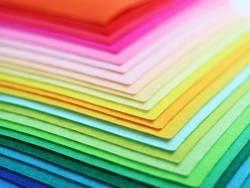 Lot de 40 plaques de feutrine multicolores - 30 x 20 cm  - 3