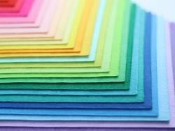 Lot de 40 plaques de feutrine multicolores - 30 x 20 cm  - 2