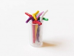 Pack of 12 colourful metal straws - Cuba