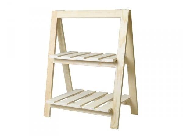 Acheter Etagère escabeau en bois - 2 étages - 22,99€ en ligne sur La Petite Epicerie - 100% Loisirs créatifs