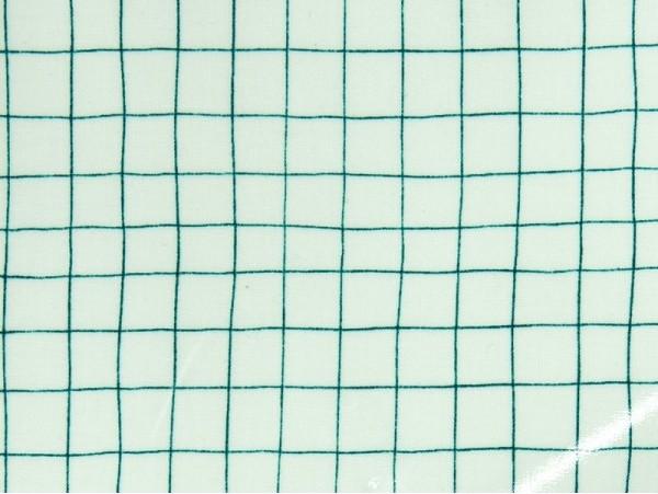 toile enduite carreaux verts couture tissus au m tre. Black Bedroom Furniture Sets. Home Design Ideas