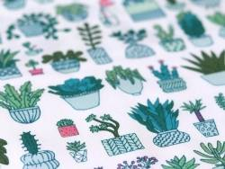 Acheter Tissu coton cactus - 1,99€ en ligne sur La Petite Epicerie - Loisirs créatifs