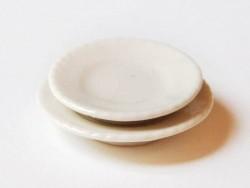 Assiette aux bords ondulés - 2 cm  - 3