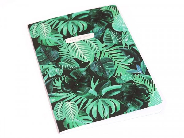 "Carnet A5 jungle botanique ""keep growing"" Sass&Belle - 1"