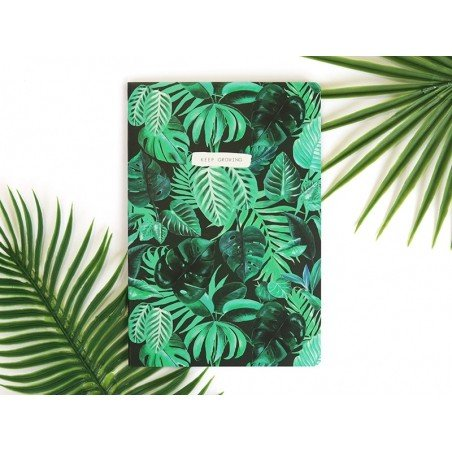 "Carnet A5 jungle botanique ""keep growing"" Sass&Belle - 2"