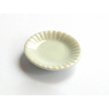 Assiette aux bords ondulés - 1,6 cm