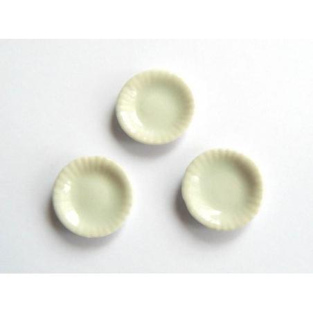 Assiette aux bords ondulés - 1,6 cm  - 2