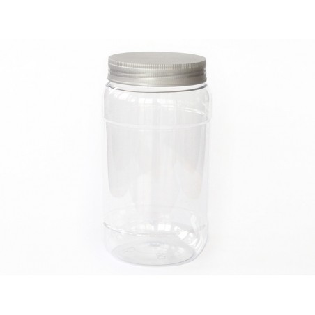 Pot / bocal en plastique transparent 1 litre  - 2