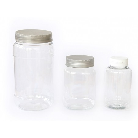 Pot / bocal en plastique transparent 1 litre  - 3