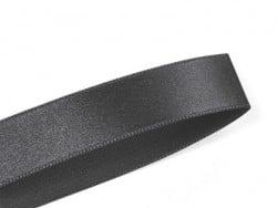 1 m ruban satin uni noir - 6 mm