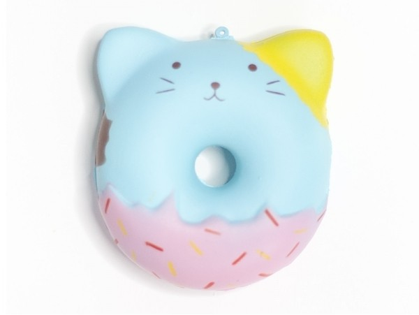 Squishy donut chat bleu  - 1