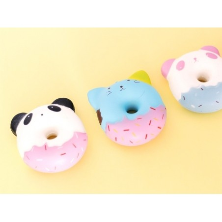 Squishy donut chat bleu  - 2