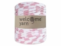 Grande bobine de fil trapilho - rayures rose bonbon