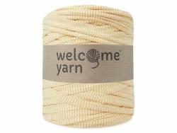 Grande bobine de fil trapilho - rayures jaune pâle Welcome Yarn - 1