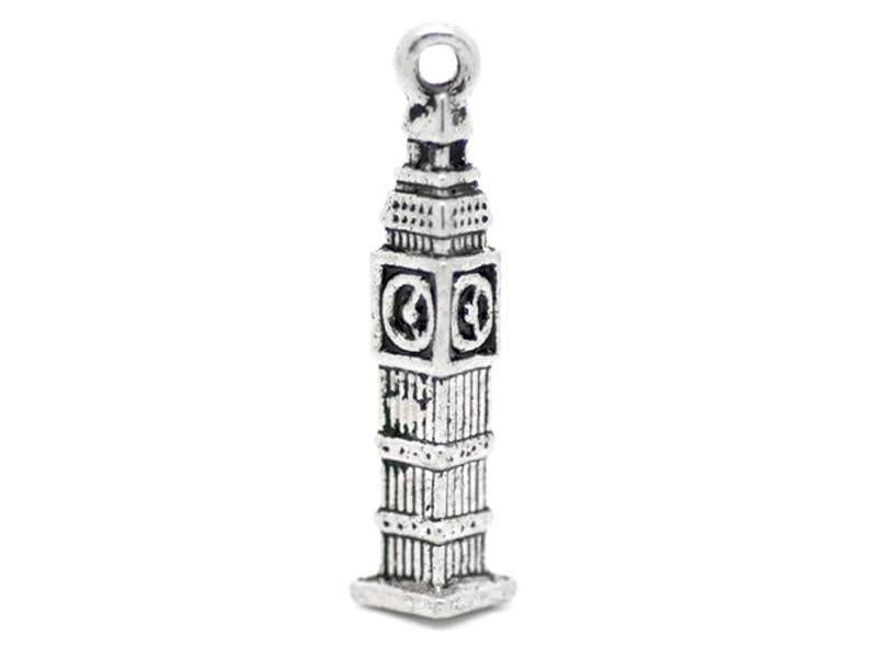 1 silver-coloured Big Ben charm