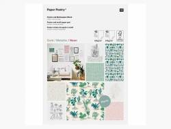 Bloc de papier A4 / affiches -  Hygge -  petites plantes, succulentes et cactus Rico Design - 1