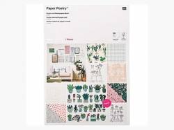Bloc de papier A3 / affiches -  Hygge -  petites plantes, succulentes et cactus