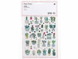 210 stickers - petites plantes, succulentes et cactus