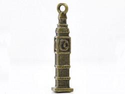 1 breloque Big Ben couleur bronze