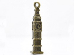 1 bronze-coloured Big Ben charm
