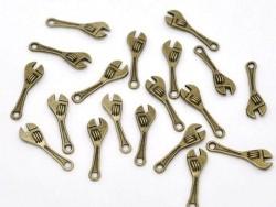 1 Breloque clé bricolage couleur bronze