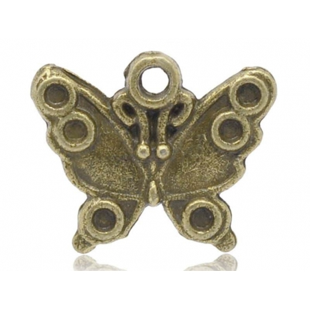 1 butterfly charm - bronze-coloured