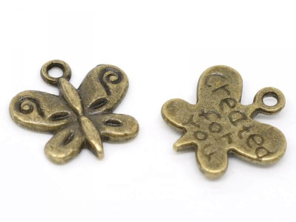 Acheter 1 Breloque created for you - couleur bronze - 0,39€ en ligne sur La Petite Epicerie - Loisirs créatifs