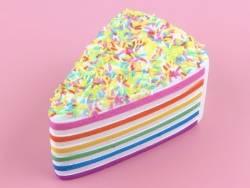 Gros squishy Rainbow cake avec des vermicelles  - 3