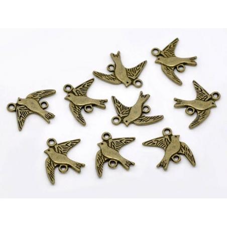 Acheter 1 Breloque oiseau en vol - couleur bronze - 0,59€ en ligne sur La Petite Epicerie - Loisirs créatifs