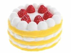 Squishy charlotte aux fraises - jaune -  anti stress  - 1