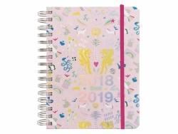 Agenda planner 17 mois Wonderland rose et argent - 2018/2019  - 1
