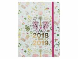Agenda planner 17 mois Wonderland bleu et argent - 2018/2019