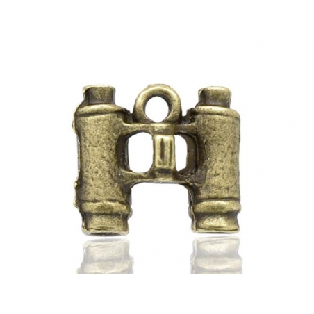 1 binoculars charm - bronze-coloured