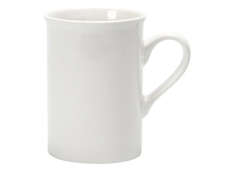 Mug en porcelaine blanche, 7 cm
