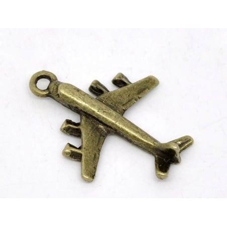 Acheter 1 Breloque avion - couleur bronze - 0,69€ en ligne sur La Petite Epicerie - Loisirs créatifs