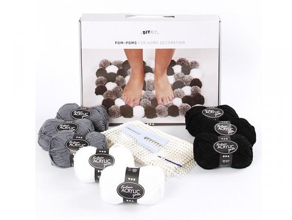 Acheter Kit de laine DIY - Pompons pour décoration, harmonie de gris - 27,99€ en ligne sur La Petite Epicerie - Loisirs créa...