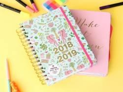 Agenda planner 17 mois Wonderland bleu et argent - 2018/2019  - 7