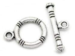 1 toggle clasp - silvery