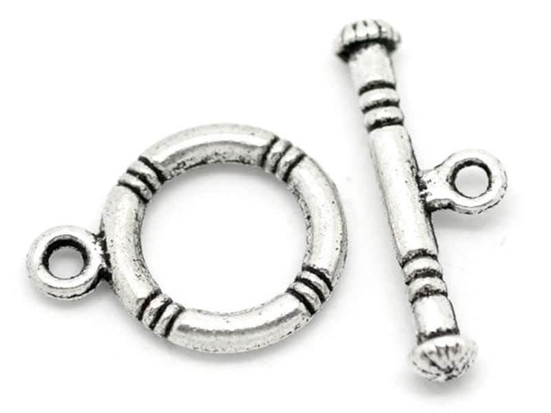 Acheter 1 Fermoir Toogle - Argenté - 0,39€ en ligne sur La Petite Epicerie - Loisirs créatifs