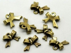 1 bow charm - bronze-coloured