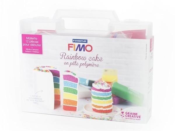 Kit fimo - Mallette Rainbow cake Fimo - 1
