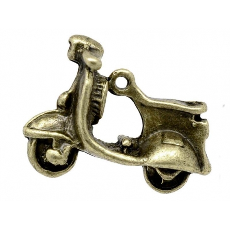 1 Breloque Scooter - couleur bronze