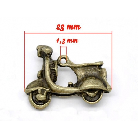 1 scooter charm - bronze-coloured