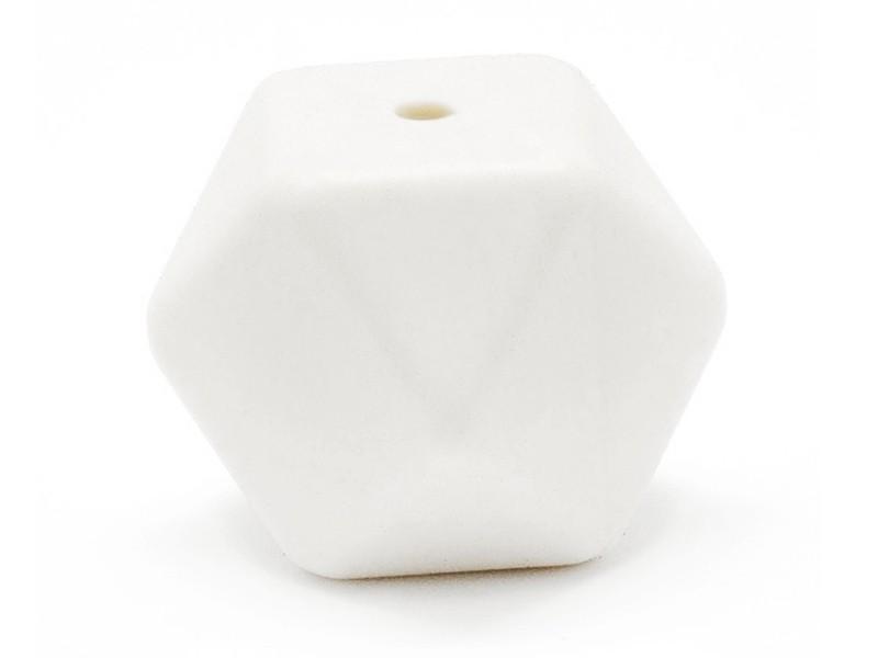 Acheter Perle géométrique de 14 mm en silicone - blanc - 0,99€ en ligne sur La Petite Epicerie - 100% Loisirs créatifs
