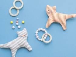 Acheter Perle géométrique de 14 mm en silicone - beige, imitation bois clair - 0,99€ en ligne sur La Petite Epicerie - Loisi...