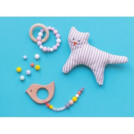 Acheter Perle géométrique de 14 mm en silicone - bleu marine - 0,99€ en ligne sur La Petite Epicerie - 100% Loisirs créatifs