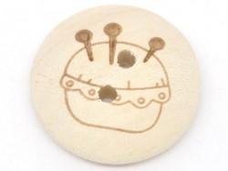 Holzknopf (20 mm) - Nadelkissen